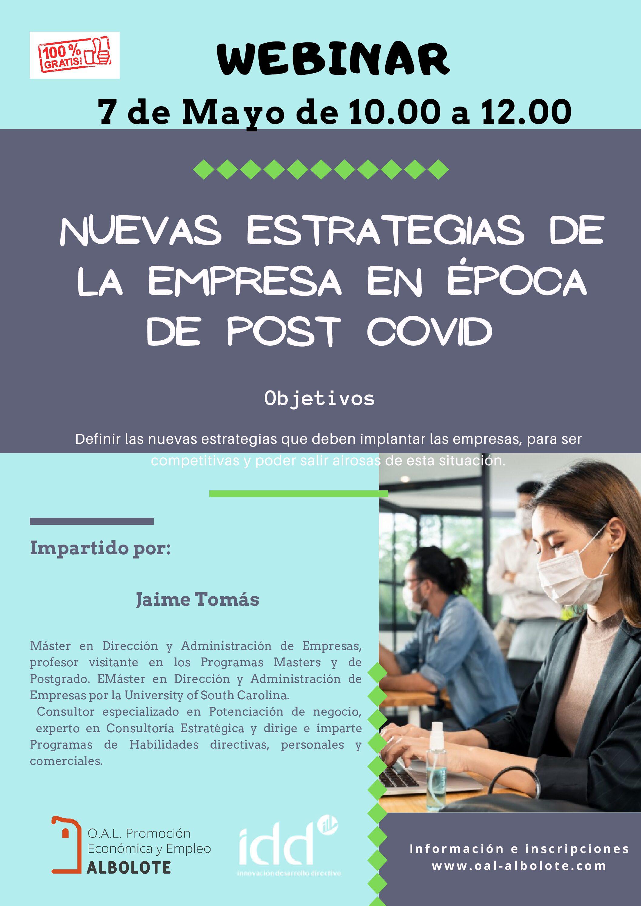 Videoconferencia: «Nuevas Estrategias de la Empresa en Época Post-Covid»