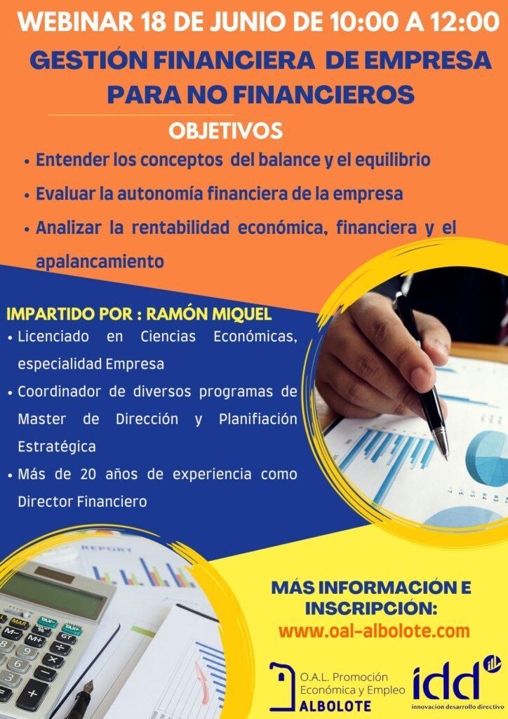 curso oal webinar: gestión financiera