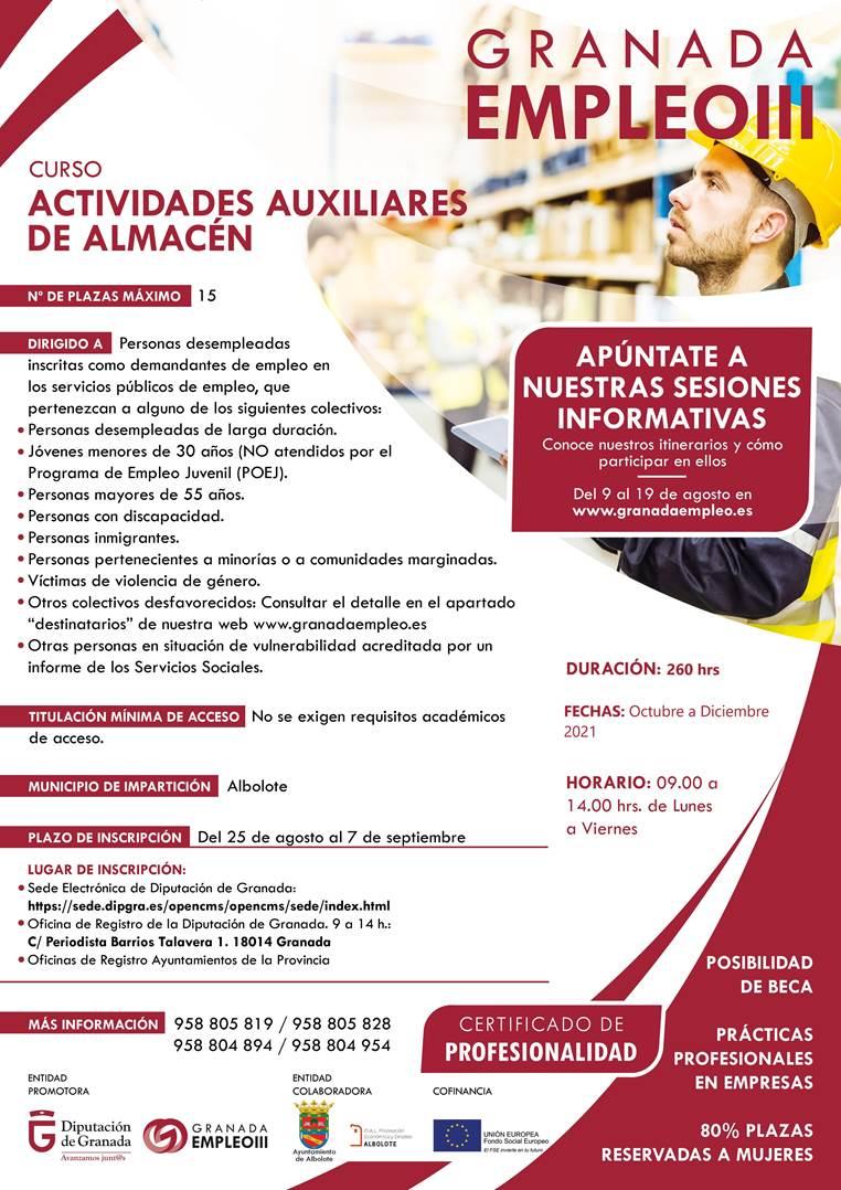Curso ACTIVIDADES AUXILIARES DE ALMACÉN